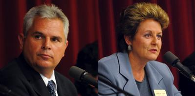 Candidates Pappas and Farr at debate 2008